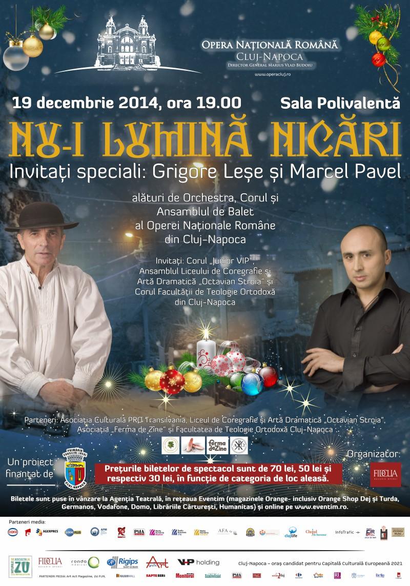 Afis Concert Craciun ONRC, 19 dec